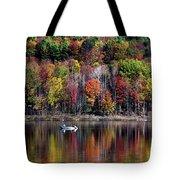 Vanishing Autumn Reflection Landscape Tote Bag