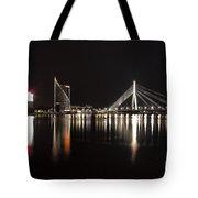 Vansu Bridge Riga Tote Bag