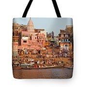 Varanasi From Ganges River Tote Bag