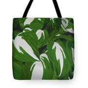 Variegated Hostas Tote Bag