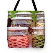 Various Cookies In Glass Jars Tote Bag