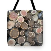 Various Firewood In The Round Tote Bag