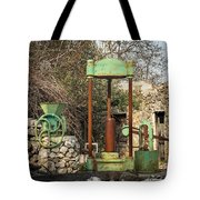 Various Old Rusty Vintage Agricultural Devices In Croatia Tote Bag