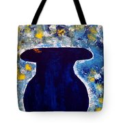 Vas And Flowers Tote Bag