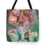 Vase Full Of Roses Tote Bag