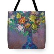 Vase Of Chrysanthemums Tote Bag