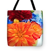 Vase Of Colorful Flowers Tote Bag