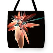 Vase Of Flowers Abstract Tote Bag