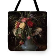 Vase Of Flowers And A Visiting Card Tote Bag