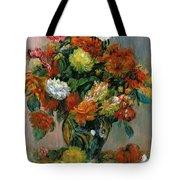 Vase Of Flowers Tote Bag by Pierre Auguste Renoir