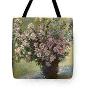 Vase Of Malva Flowers, 1880 Tote Bag