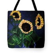 Vase Of Sunflowers Tote Bag