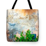 Vase On Decayed Wall Tote Bag