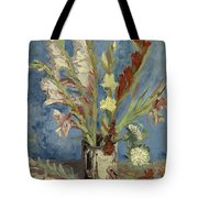 Vase With Gladioli And Chinese Asters Tote Bag