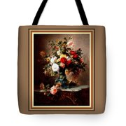Vase With Roses And Other Flowers L B With Alt. Decorative Ornate Printed Frame. Tote Bag