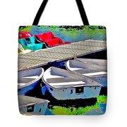 Boats Summer Vasona Park Tote Bag