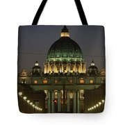 Vatican, Rome, Italy.  Night View Tote Bag