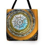 Vatican Staircase Looking Up Tote Bag