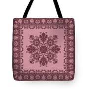 Vector Abstract Ethnic Shawl Floral Pattern Design For Backgroun Tote Bag