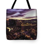 Vegas Sunset Tote Bag