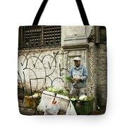 Vegetable Vendor Havana Cuba Tote Bag