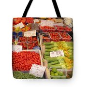 Vegetables At Italian Market Tote Bag