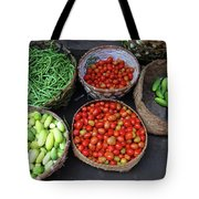 Vegetables In A Basket Tote Bag