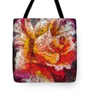 Vegged Out Rose Tote Bag