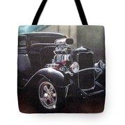 Vehicle- Black Hot Rod  Tote Bag