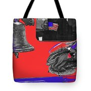 Vehicle Liberty Bell Paul Revere Flag Bicentennial Of Constitution Tucson Arizona 1987-2015 Tote Bag