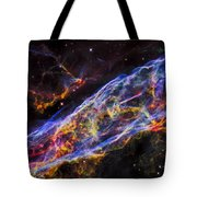 Veil Nebula - Rainbow Supernova  Tote Bag