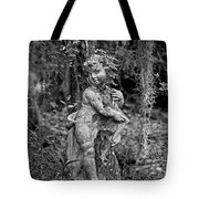 Veil Of Vines Black And White Tote Bag