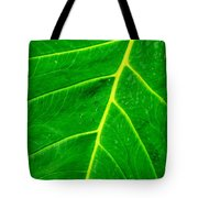 Veins Of Green Tote Bag