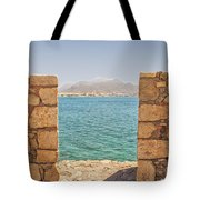 Veiw Of Lerapetra From Kales Fort Portrait Composition Tote Bag