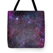 Vela Supernova Remnant In The Center Tote Bag