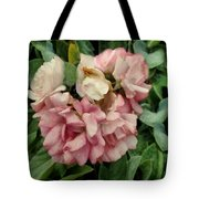 Velvet In Pink And Green Tote Bag