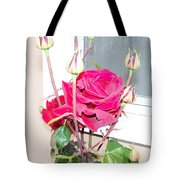 Velvet Red Rose Of Sharon Tote Bag