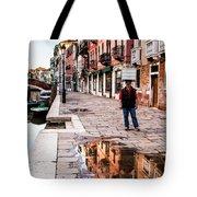 Venetian Baker, Reflection, Rain Puddle Tote Bag