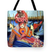 Venetian Carneval Mask With Bird Cage Tote Bag