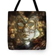 Venetian Golden Mask Tote Bag