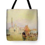 Venetian Scene, 19th Century Tote Bag
