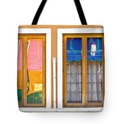 Venetian Window Reflections Tote Bag