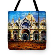 Venice - Pigeons On San Marco Square Tote Bag