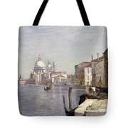 Venice - View Of Campo Della Carita Looking Towards The Dome Of The Salute Tote Bag by Jean Baptiste Camille Corot