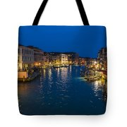Venice And The Grand Canal In The Evening Tote Bag