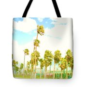 Venice Beach In Windy Pastels Tote Bag