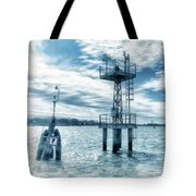 Venice - Buoy And Mooring In The Lagoon Tote Bag