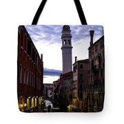 Venice Canal At Dusk Tote Bag