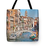 Venice Canaletto Bridging Tote Bag