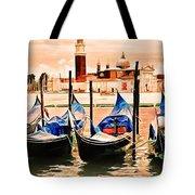 Venice, City Of Romance, Italy, Gondolas Tote Bag